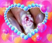 春ネイル 3D薔薇
