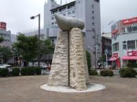 7/21 御殿場駅 富士山モニュメント