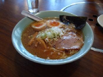 10/28 味玉入りとんこつ醤油ラーメン 九一麺