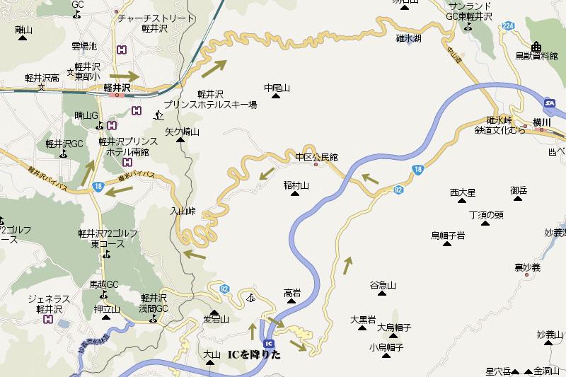 碓氷榛名傑作選 - 地図