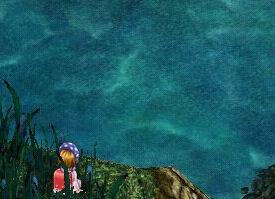 湖畔にて黄昏れる私・・・
