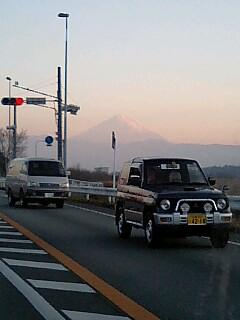 国道20号から見える富士山