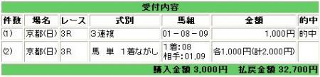 10.22京都3R・新馬戦