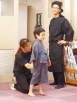 徳永家の末っ子隆:土井洋輝くん。今朝の放送で小島慶四郎さん演じる徳永喜八郎さんが亡くなりました。他人のような気がしません。