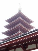 前回上演した浅草公会堂から見える五重塔