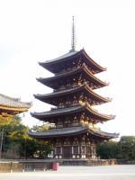 前回の千穐楽会館そばの興福寺五重塔