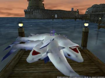 重なるサメ