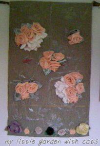 薔薇タペストリ