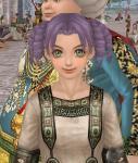 古代の衣服縦ロール