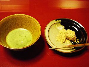 「菊の井」お薄 自家製わらび餅-グルメレポーター修行の日々-