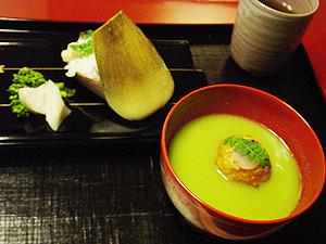 「菊の井」竹の子寿司 すり流し汁-グルメレポーター修行の日々-