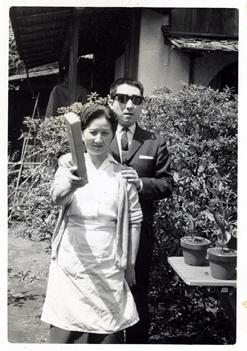 経堂の実家で、祖母と父