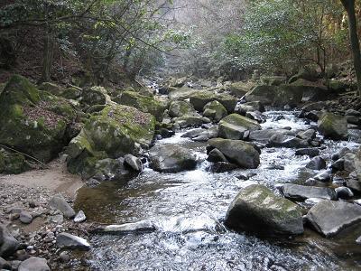 保永の滝の川