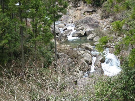 栗島川の渓相