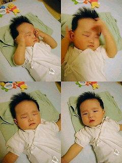 眠いみたいだけど・・・起きてしまいグズる蒼・・・。
