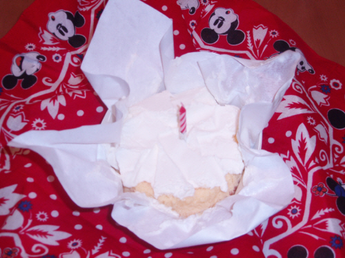 チーズケーキでお祝いだよ~!