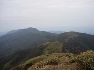 20070304滝山への縦走路
