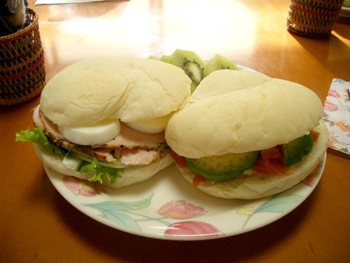 お手製サンドイッチ4