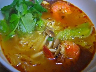 白菜と海老のスープカリー