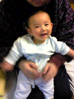 ピンボケ笑顔:パパと