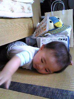 ベッド下にはまったひいらぎくん