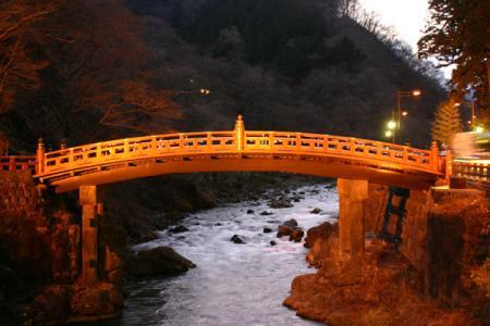 神橋のライトアップ