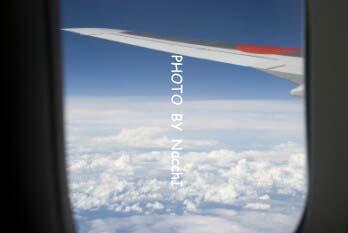 帰りの飛行機の中から。