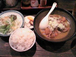 モツ煮込み定食@鉄火