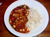 発芽大豆と発芽玄米のトマトカレー…