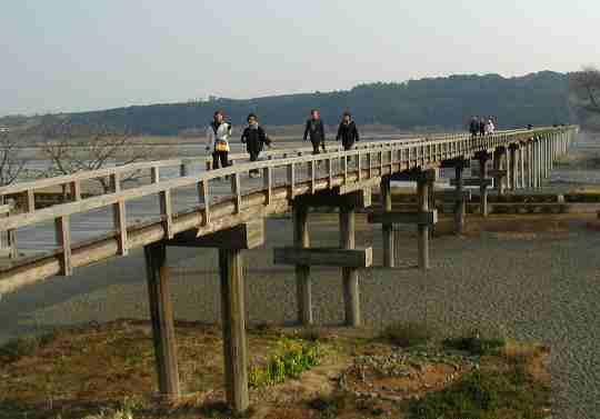 世界一の木造歩道橋、蓬莱橋
