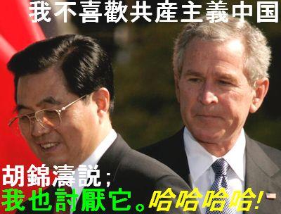 我不喜歡共産主義中国