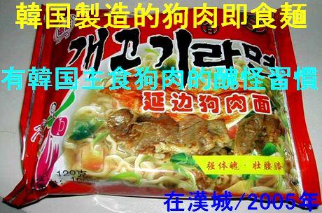 鮮国製造的狗肉即席麺