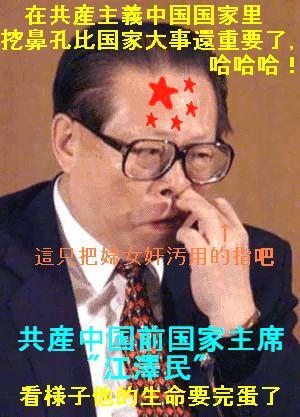 在共産主義中国国家里 wa鼻孔比 江澤民