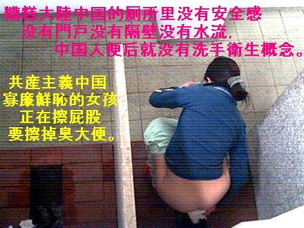 糟gao大陸中国的厠所里没有安全感