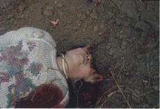 銃殺により頭蓋の上半分が吹っ飛んだ殺人犯/陸金鳳の遺骸