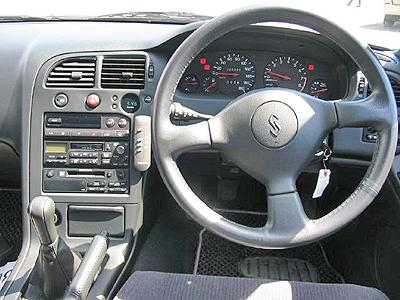 日産R33スカイラインGTStタイプM 4ドア コクピット