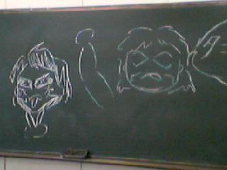 黒板に落書き