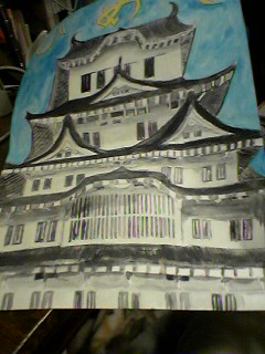 姫路城の水彩画