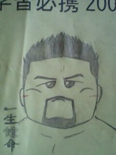 角田さんの似顔絵・・・?