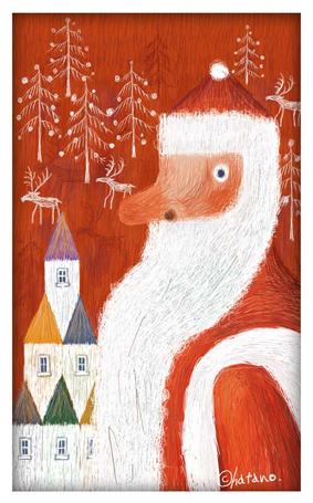 クリスマスカード2002制作イラスト縮小