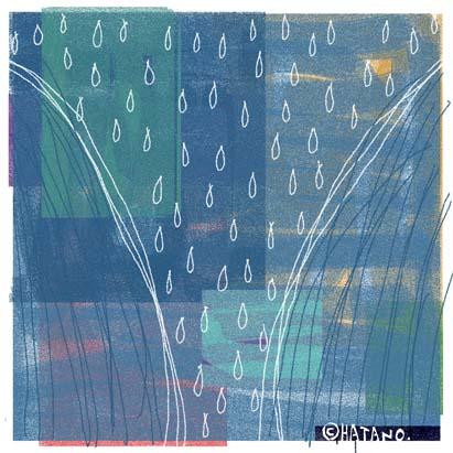 「ざーー」と流れる水のイメージ