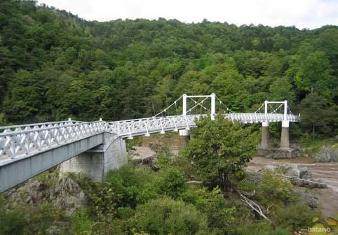 神居古潭の吊り橋