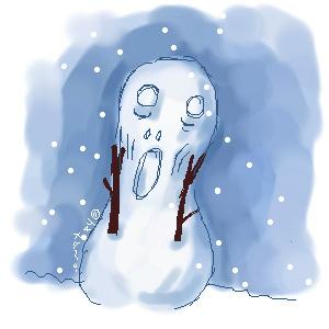 雪だるまの叫び??