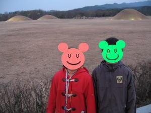 慶州 点在する古墳