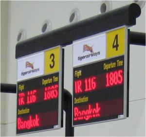タイガー航空チェックインカウンター