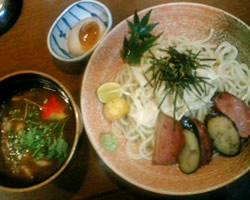 松茸と鱧のつけ麺の写真