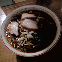 風来房の竹岡式ラーメンの写真