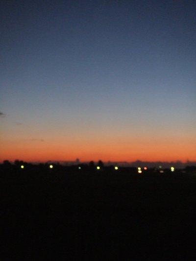 【夕空】夕闇迫る