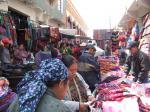 市場の織物