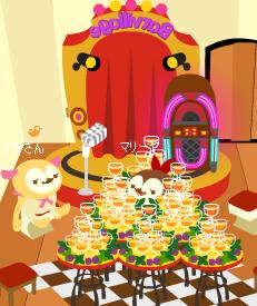 シャンパンタワーに囲まれてみた